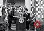 Image of Thomas Hudner Medal of Honor Washington DC White House, 1951, second 10 stock footage video 65675034415