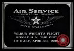 Image of Wilbur Wright Rome Italy, 1909, second 8 stock footage video 65675034491