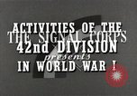 Image of US Army 42nd Division battles in World War I Baccarat France, 1918, second 8 stock footage video 65675034504