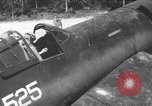 Image of Marine Aircraft Group 11 F4U Corsairs arrive back from mission Espiritu Santo New Hebrides Islands, 1944, second 1 stock footage video 65675034617