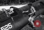 Image of Marine Aircraft Group 11 F4U Corsairs arrive back from mission Espiritu Santo New Hebrides Islands, 1944, second 6 stock footage video 65675034617