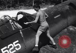 Image of Marine Aircraft Group 11 F4U Corsairs arrive back from mission Espiritu Santo New Hebrides Islands, 1944, second 7 stock footage video 65675034617