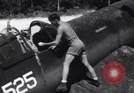 Image of Marine Aircraft Group 11 F4U Corsairs arrive back from mission Espiritu Santo New Hebrides Islands, 1944, second 8 stock footage video 65675034617