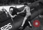 Image of Marine Aircraft Group 11 F4U Corsairs arrive back from mission Espiritu Santo New Hebrides Islands, 1944, second 12 stock footage video 65675034617