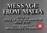 Image of life in Malta Malta, 1943, second 7 stock footage video 65675034619