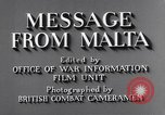 Image of life in Malta Malta, 1943, second 8 stock footage video 65675034619