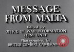 Image of life in Malta Malta, 1943, second 10 stock footage video 65675034619