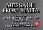 Image of life in Malta Malta, 1943, second 12 stock footage video 65675034619