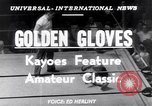 Image of Golden Gloves New York City USA, 1952, second 2 stock footage video 65675034656