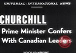 Image of Winston Churchill Ottawa Ontario Canada, 1952, second 4 stock footage video 65675034658