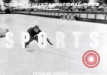 Image of World Barrel Jumping Contest on ice Liberty New York USA, 1952, second 1 stock footage video 65675034662