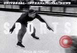 Image of World Barrel Jumping Contest on ice Liberty New York USA, 1952, second 2 stock footage video 65675034662