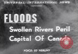Image of floods Ottawa Ontario Canada, 1951, second 1 stock footage video 65675034667