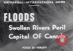 Image of floods Ottawa Ontario Canada, 1951, second 2 stock footage video 65675034667