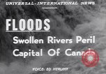 Image of floods Ottawa Ontario Canada, 1951, second 3 stock footage video 65675034667