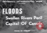 Image of floods Ottawa Ontario Canada, 1951, second 4 stock footage video 65675034667