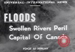 Image of floods Ottawa Ontario Canada, 1951, second 6 stock footage video 65675034667