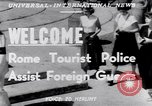 Image of Tourist Police Rome Italy, 1951, second 2 stock footage video 65675034668