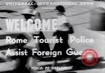 Image of Tourist Police Rome Italy, 1951, second 4 stock footage video 65675034668
