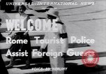 Image of Tourist Police Rome Italy, 1951, second 5 stock footage video 65675034668