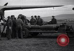 Image of B-26 bomber aircraft being armed Tunisia North Africa, 1943, second 3 stock footage video 65675034693