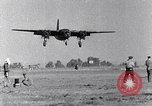 Image of B-26 bomber aircraft with battle damage Tunisia North Africa, 1943, second 3 stock footage video 65675034694