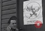 Image of Pilots of USAAF 4th fighter group finish briefing Debden England, 1945, second 2 stock footage video 65675034700