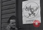 Image of Pilots of USAAF 4th fighter group finish briefing Debden England, 1945, second 3 stock footage video 65675034700
