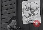 Image of Pilots of USAAF 4th fighter group finish briefing Debden England, 1945, second 6 stock footage video 65675034700