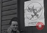 Image of Pilots of USAAF 4th fighter group finish briefing Debden England, 1945, second 12 stock footage video 65675034700