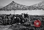 Image of U.S. Marine Battery firing 155mm howitzer Okinawa Ryukyu Islands, 1945, second 10 stock footage video 65675034734