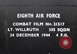 Image of USAAF 335th Fighter Squadron gun camera film Germany, 1944, second 1 stock footage video 65675034800