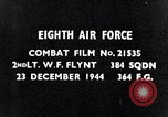 Image of 8th Air Force Germany, 1944, second 3 stock footage video 65675034801