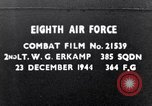 Image of 8th Air Force Germany, 1944, second 1 stock footage video 65675034802
