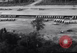 Image of trucks parked Ledo Road Tingkawk Burma, 1945, second 7 stock footage video 65675034822