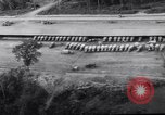 Image of trucks parked Ledo Road Tingkawk Burma, 1945, second 8 stock footage video 65675034822