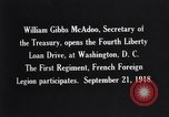 Image of William Gibbs McAdoo Washington DC USA, 1918, second 4 stock footage video 65675034847