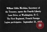 Image of William Gibbs McAdoo Washington DC USA, 1918, second 8 stock footage video 65675034847