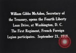 Image of William Gibbs McAdoo Washington DC USA, 1918, second 10 stock footage video 65675034847