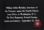 Image of William Gibbs McAdoo Washington DC USA, 1918, second 12 stock footage video 65675034847