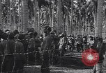 Image of Japanese prisoners behind barbed wire enclosures Guadalcanal Solomon Islands, 1942, second 2 stock footage video 65675034877