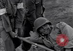 Image of wounded soldier of 8th Infantry Division Brest France, 1944, second 11 stock footage video 65675034896