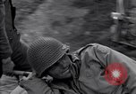 Image of wounded soldier of 8th Infantry Division Brest France, 1944, second 12 stock footage video 65675034896