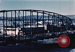 Image of steel bridge Alaska USA, 1954, second 4 stock footage video 65675034929