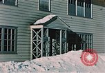 Image of doorway Alaska USA, 1955, second 10 stock footage video 65675034937