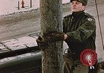 Image of linesman Elmendorf Air Force Base Alaska USA, 1954, second 2 stock footage video 65675034965