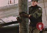 Image of linesman Elmendorf Air Force Base Alaska USA, 1954, second 3 stock footage video 65675034965