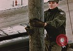 Image of linesman Elmendorf Air Force Base Alaska USA, 1954, second 4 stock footage video 65675034965