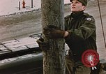 Image of linesman Elmendorf Air Force Base Alaska USA, 1954, second 5 stock footage video 65675034965