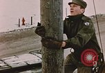 Image of linesman Elmendorf Air Force Base Alaska USA, 1954, second 6 stock footage video 65675034965